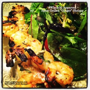 "Spicy Grilled ""Ginger"" Shrimp"