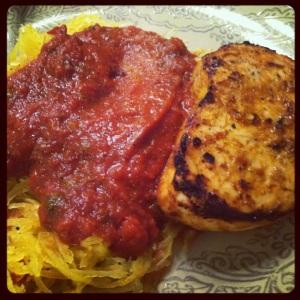 Spaghetti Squash and Swordfish